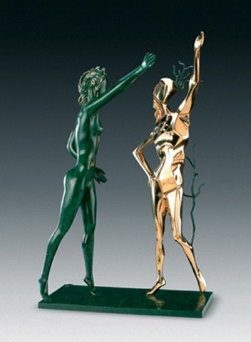 "Salvador Dali ""Homage to Terpsichore"" 1977 First cast: 1984 nr. 241/350 Bronze"