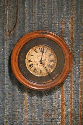 www.Antikvitet.net - Gammelt dekorativt Fransk ur fra chokolade butik.