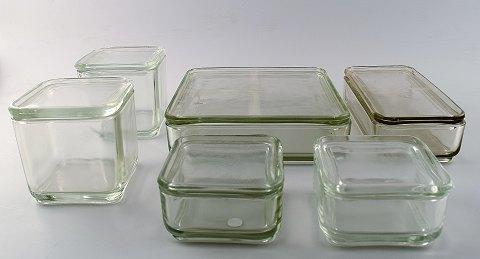 wilhelm wagenfeld bauhaus kubus 6 modul bokse i presset glas. Black Bedroom Furniture Sets. Home Design Ideas