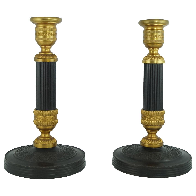 franske bronze lysestager empire stil. Black Bedroom Furniture Sets. Home Design Ideas