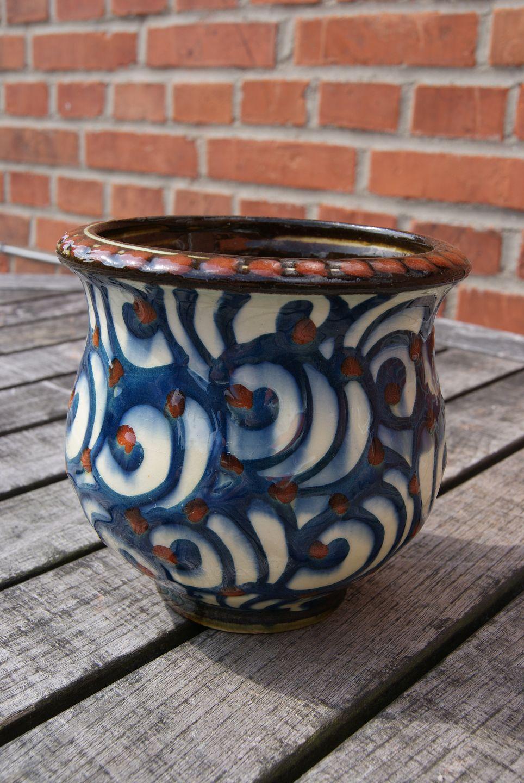 www.Antikvitet.net - Kæhler Keramik. Buttet vase 12cm