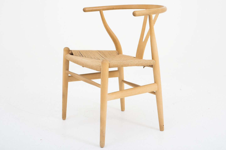 hans j wegner carl hansen s n y stol ch 24 i b g og papirgarn 3 stk. Black Bedroom Furniture Sets. Home Design Ideas