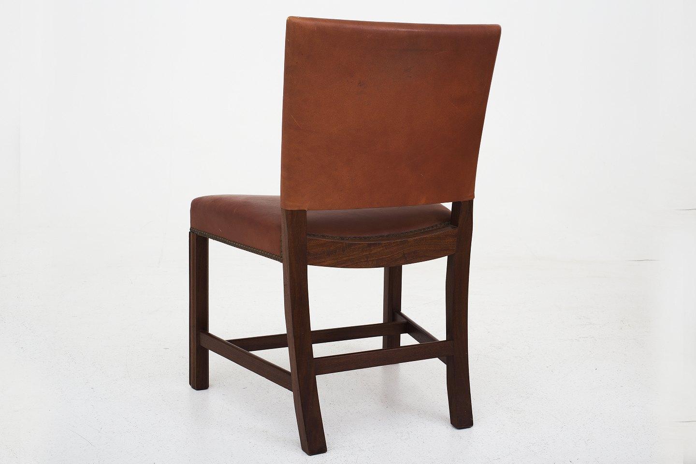 kaare klint rud rasmussen kk 3758 den r de stol i mahogni og brunt. Black Bedroom Furniture Sets. Home Design Ideas