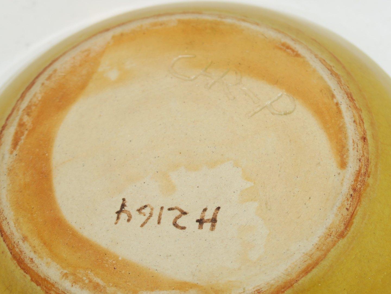 christian poulsen keramik .Antikvitet.  Christian Poulsen keramik * * Gult fad   unika christian poulsen keramik